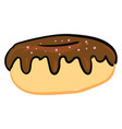image chocolate cream donut or color vector image vector image