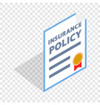 insurance policy isometric icon vector image vector image