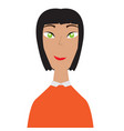 isolated woman avatar vector image vector image