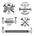 Labor day emblems vector image vector image