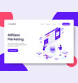 landing page template of affiliate marketing vector image vector image
