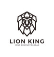 lion head logo geometric lion logo design vector image
