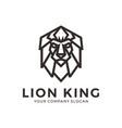 lion head logo geometric lion logo design vector image