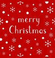 merry christmas lettering design baner vector image