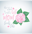 mothers day background layout vector image vector image