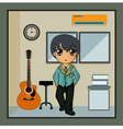 music room vector image