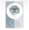 new technology theme booklet cover design front vector image vector image