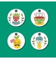 Organic eco and bio food labels set vector image vector image