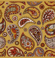 paisley seamless background abstract pattern vector image