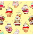 pattern of fantastic cakes in vector image