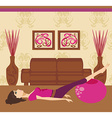 pilates at home vector image vector image