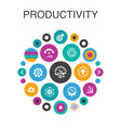 productivity infographic circle concept smart ui vector image vector image