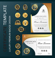 professional certificate template with luxury and vector image vector image