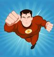 red superhero vector image