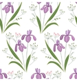 Seamless pattern with stylized cute irises vector image vector image