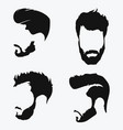 set hairstyles for men collection black vector image vector image