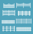 set of different fences white vector image vector image