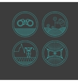 Set of round icons on the dark background vector image vector image