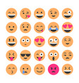 set smiling icons emoticons different vector image vector image