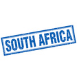 South Africa blue square grunge stamp on white vector image vector image