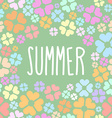Summer flowers background for flyers vector image