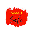 summer sale lettering inscription special offer vector image vector image