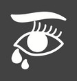 tears in eyes vector image vector image