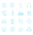 Thin lines icon set - devices accessory vector image vector image