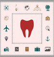 tooth icon symbol elements for your design vector image