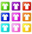 tshirt set 9 vector image vector image