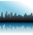 urban skyline vector image