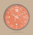 wall clocks face dial plate vector image vector image