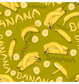wallpaper of bananas and letters vector image vector image