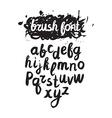 handwritten brush alphabet on grunge background vector image