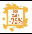 a big autumn sale of seventy five percent vector image