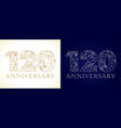 120 anniversary vintage silver gold vector image vector image