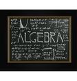 Algebra blackboard image vector image vector image