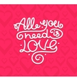 All You Need is Love Background Placard Card vector image