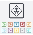 Baby on board sign icon Infant caution symbol vector image vector image