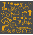 Bicycle icon set Bike types flat design vector image
