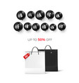 black friday discount poster with black balloons vector image vector image