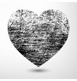 Black Grunge Heart vector image vector image