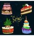 Cakes Design vector image