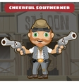 Cartoon character Wild West - cheerful southerner vector image vector image