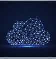 cloud of glowing lines and dots abstract vector image vector image
