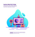 concept data protection modern conceptual for vector image vector image