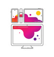 cross-platform icons cross platforming devices vector image vector image