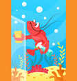 cute smiling animals and underwater world cute vector image