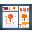 Design Web banners for sale with autumnal tree vector image vector image