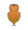 Eagle-Owl Relaxed Cartoon Wild Animal With Closed vector image vector image